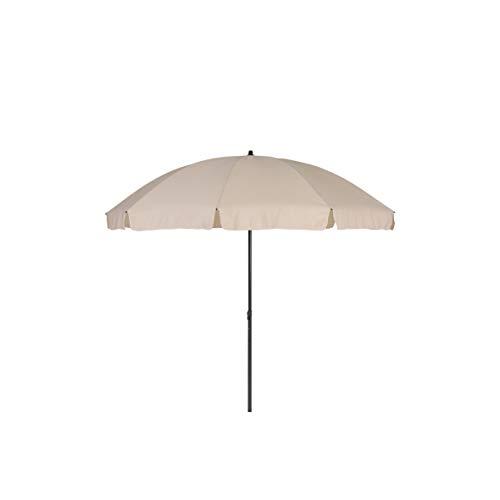greemotion Parasol rond inclinable couleur beige – Grand parasol de jardin – Parasol anti UV 35+ - Parasol orientable et réglable en hauteur – Parasol de table 10 baleines haute qualité