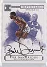 Bob Dandridge #18/49 (Basketball Card) 2016-17 Panini Impeccable - Indelible Ink - Silver #II-BD