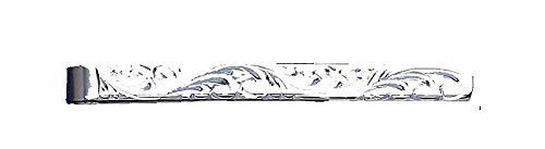 Pince à cravate gravée en argent sterling – Fabriquée au Royaume-Uni – Poinçonnée
