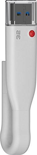 Emtec iCobra Lightning Flash Drive, 32GB, for iPhone, iPad, iPad, White ( ECMMD32GT503 )