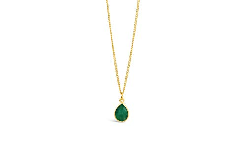 Lily Blanche Women Necklace Natural Emerald Charm Pendant Sparkling Jewellery for Women Crystal Necklace Anniversary Birthday Mother's Day Jewelry Gifts for Mum and Wife Designed in Britain (Rose)