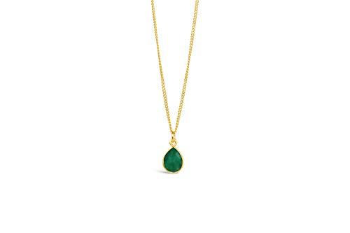 Lily Blanche Edinburgh Oro vermeil rosa de 18 quilates Teardrop Emerald
