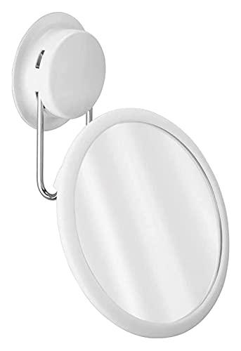 HEG Miroir Mural Miroir à Ventouse pour Salle de Bain, Miroir de Vinaigrette de créativité Murale Super légère Miroirs à Main