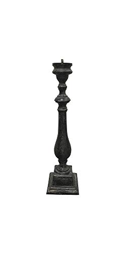 Rome Cast Aluminum Spindle Pedestal For Sundials, Antique