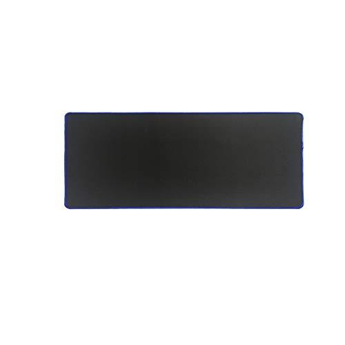 Alfombra de escritorio Puro negro grande juego de ratón almohadilla de ratón de bloqueo de bloqueo de ratón alfombrilla de alfombrilla de estera del teclado alfombrilla de mesa de mesa para cuaderno p