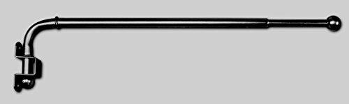 Jellinghaus Sonnenschutz Gardinenstange schwenkbar Vario Vorhangstange in 3 Farben 30-50cm oder 60-110cm (schwarz, 30-50 cm)