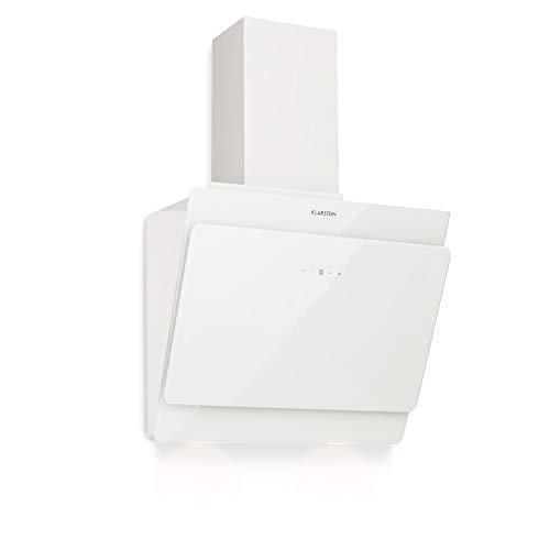 Klarstein Aurica 60 - Campana extractora, Extractor de humos de pared, Ventilación y extracción, 3 niveles, Extracción máxima de 610 m³/h, 60 cm, Blanco