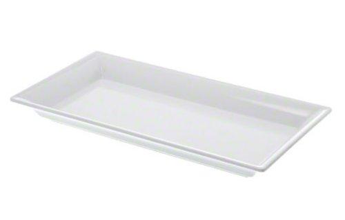 American Metalcraft MEL19 Endurance Melamine Rectangular Platter, 14.25' x 7.5', White