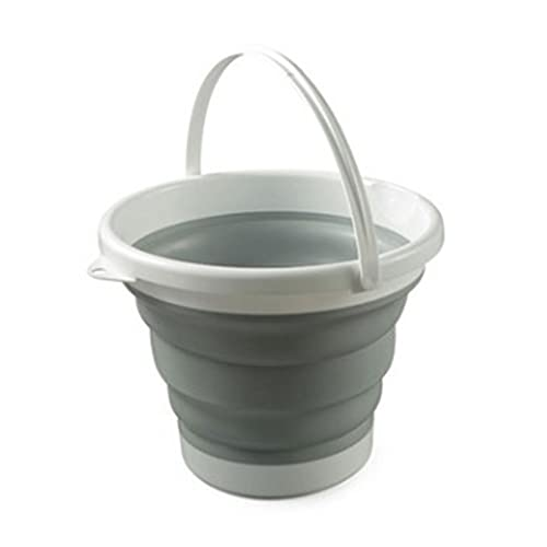 GQFGYYL Recipiente de Agua Plegable PortáTil, 10l (2.65 Galones) Cubo Plegable de Silicona Cubo de Lavado de Autos, para Acampar, Caminar Y Lavar los Platos en el Hogar