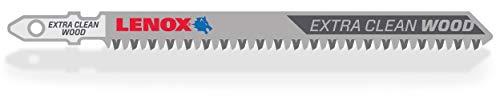 LENOX Tools 1991553 T-Shank Extra Clean Wood Cutting Jig Saw Blade, 4 1/2
