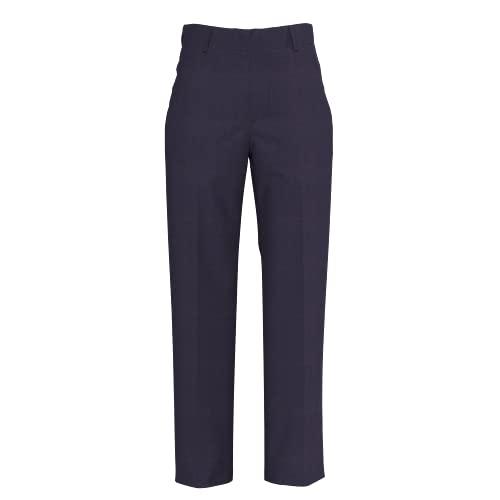 Tommy Hilfiger Pantalón de vestir delantero plano para niño, Pantalón de vestir con parte delantera plana., 8, Azul marino (Masters Navy)