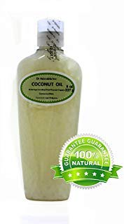 Aceite de coco extravirgen, puro y orgánico, 8 onzas