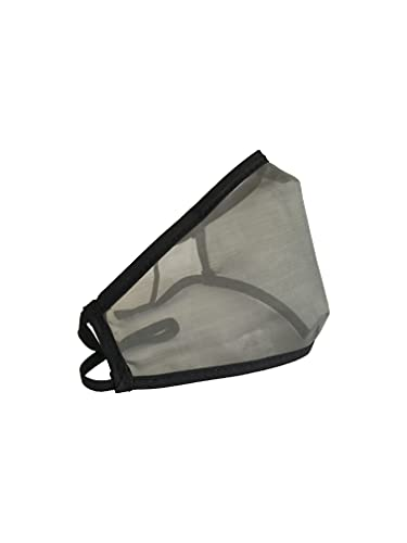 Domos Mascarilla Transparente Reutilizable Color NEGRO. UNE0065 CWA17533 Fabricada en España.… (Talla M)