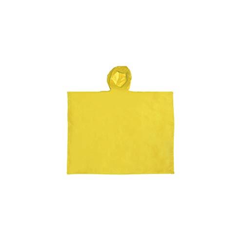 Projects Regencape Regenponcho Damen Herren wasserdicht 'Drop' Einheitsgröße aus PEVA gelb | Notfall Regenponcho Fahrrad Wandern Trekking Outdoor Regenschutz | Regen Poncho Rain Poncho