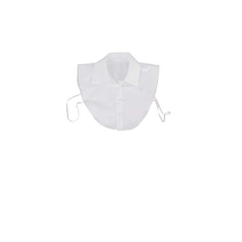 YepYes Blusa de Cuello Desmontable Dickey Cuello de la Blusa La Mitad de Las Camisas del Collar Falso para niñas y Mujeres Blancas