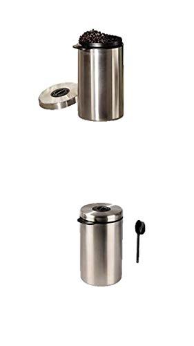 James Premium Kaffeedose Luftdicht Teedose,Kaffee Aufbewahrung Kaffeebehälter Aromadicht NEU mit CO2-Freigabeventil und Messlöffel + Milchkännchen
