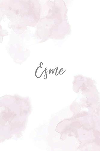 Esme: Personalised name journal notebook diary for Esme, 6x9 in lined journal with pink effect cover, journal gift for women and girls, christmas ... and birthday gift for girls and women