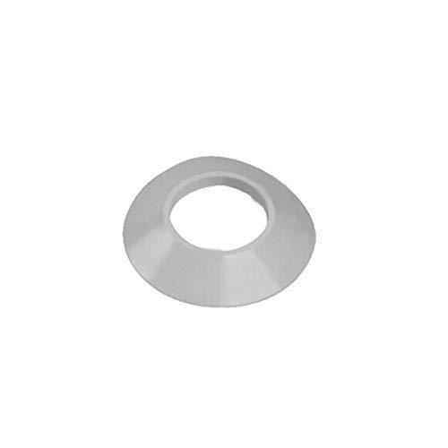 Virola cubremuro de 100 milímetros diámetro 60/100, para descarga coaxial, color aluminio (Referencia: Ariston 3318016)