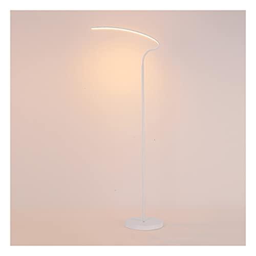 zdz Smart 10W DIRIGIÓ Lámpara de pie, Metal Negro Vertical Control Remoto A Tiempo Timming Atmather Light, para Dormitorio, Sala de Estudio (Color : White, tamaño : Type A)