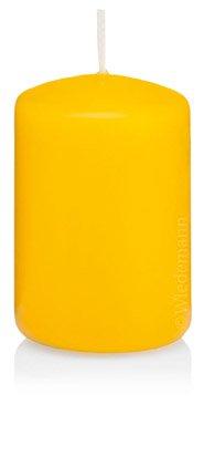 Jaune Bougie Cylindre 60 x 30 mm, 40 pcs Bougies, de Belle qualité