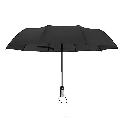 TUANDUIRG Paraguas de Negocios Totalmente automático, Tres Veces, Paraguas Plegable a Prueba de Viento, es Compacto y liviano, Adecuado para trava