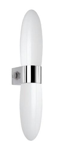 Trio lampen badkamerwandlamp in chroom, glas opaal mat wit, inclusief 1 x G9 33W met schakelaar en stopcontact, hoogte 25 cm 280870106