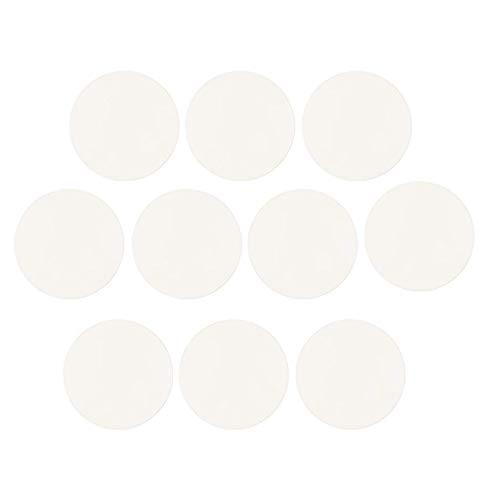 10 x 1 mm dicke, konvexe runde Lupe für Saphir-Uhren, Kristallglas – klar, 17 mm, 18mm, 10