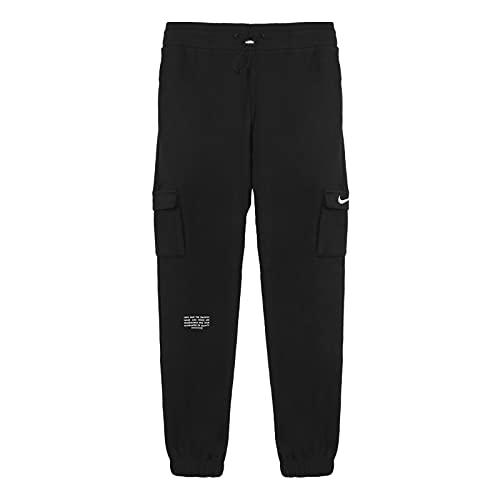 Nike CZ8905-010 W NSW SWSH Pant FT MR Pants Womens Black/(White) XL