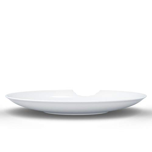 FiftyEight Lot de 2 Assiettes en Porcelaine Blanches, 24 x 24 x 12 cm