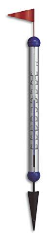 TFA Dostmann 12.2038 Gulliver analoges Design-Gartenthermometer, Außentemperatur, Erdspieß zum Einstecken, wetterfest