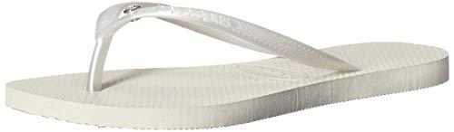 Havaianas4119517 - Sandalia Slim Crystal Glamour Sw Mujer , Blanco (blanco (White/Metallic)), 5-6