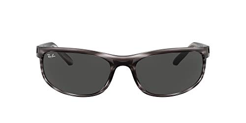 Ray-Ban 0RB2027 Gafas, Striped Grey Havana, 62 Unisex