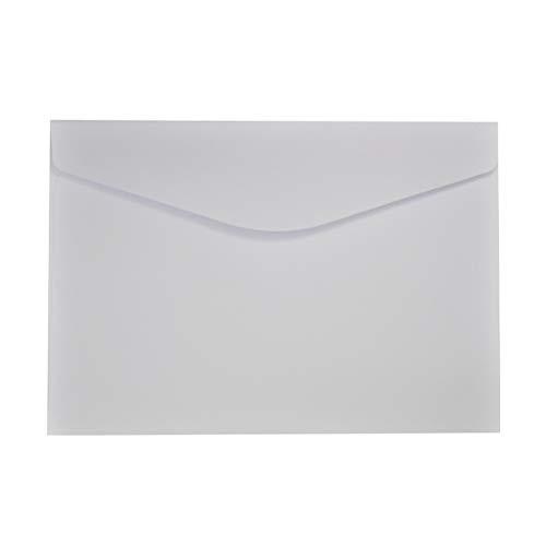 Toyvian 23x16cm Solid White Einladungskarte Postkarte Umschlag 50 Stück zum Schreiben von Briefen