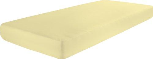 Dormisette Q186 Biber-hoeslaken, maat 90/190 tot 100/200 cm, voor matrassen tot ca. 22 cm hoog, vanille
