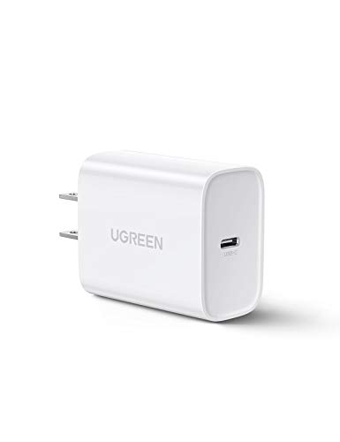 UGREEN USB C 充電器 PD 3.0 急速充電 30W USB ACアダプター PSE認証済 iPhone 11/11 Pro/XR/8、GalaxyS10、MacBook、iPad Pro その他USB-C機器対応
