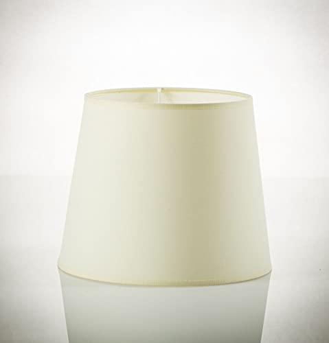 Weißer Lampenschirm Stehlampe Ø38cm 30cm hoch für E27 WILLOW aus Stoff Schirm Stehleuchte