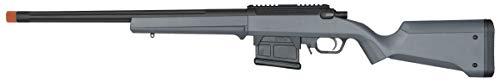 Amoeba AS-01 Striker Rifle Gen2 6mm BB Sniper Rifle Airsoft Gun, Urban Gray