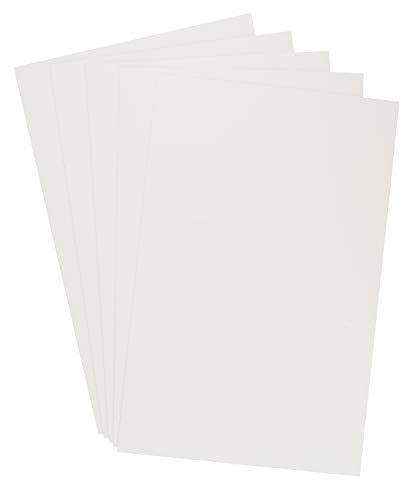5 EXTRAGROSSE Moosgummi Platten 60x40cm Stärke 3mm diverse Farben Moosgummi-Matten Schaumstoffplatten bunt Gummi Schule Kindergarten Weiß