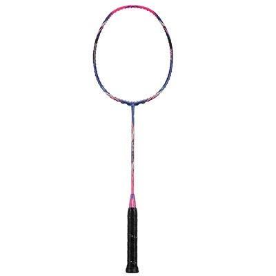 JGRH Original Badminton Raqueta King Ataque Tipo T Head Fullerene Fibra de Carbono Raqueta para Jugadores intermedios (Color : Get Strung)