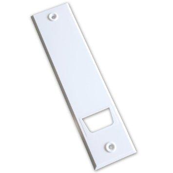 Abdeckplatte (Blende) mit Lochabstand 18,5 cm eckig weiß - 2 Stück -