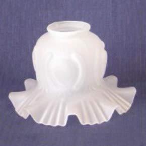 Tulipa cristal rizada clásica con volantes para lámparas - Accesorios para lámparas