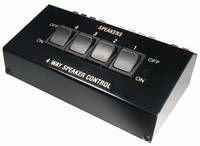 MANAX® Lautsprecher-Umschaltpult | für 4 LS-Paare | 8-16 Ohm