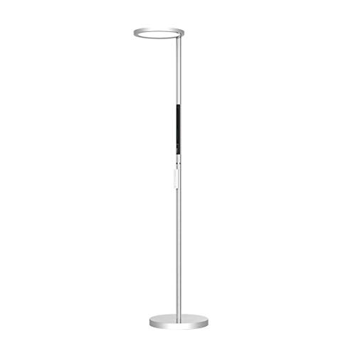 YEK standing floor lamp Up and Down Dual Light Sources Floor Lamp Touch Control Reading Standing Lamp, With Remote Control Dimmer Floor Lamps decor floor lamp (Color : White)