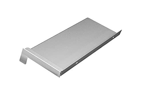Aluminium Fensterbank silber EV1 180 mm Ausladung (Gleitabschluss, 1300 mm)