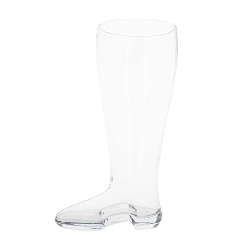 Das Boot Beer Glass – 13in Beer Boot Glass Tall Beer Glass Traditional Drinking Boot, 2.5 L Drinking Glass