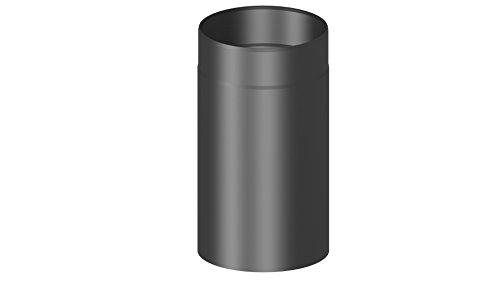 Ofenrohr / Kaminrohr / Rauchrohr mit 330 mm Länge und 120mm Innendurchmesser, schwarz