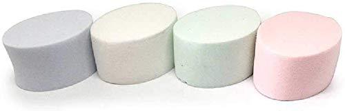 Detazhi 4 Haute densité Ovale Humide et Sec à Double Usage feuilletée emballages feuilletés de Mousse Non-Latex 4.5cm / Couleur (Color : Color, Size : 4.5cm)