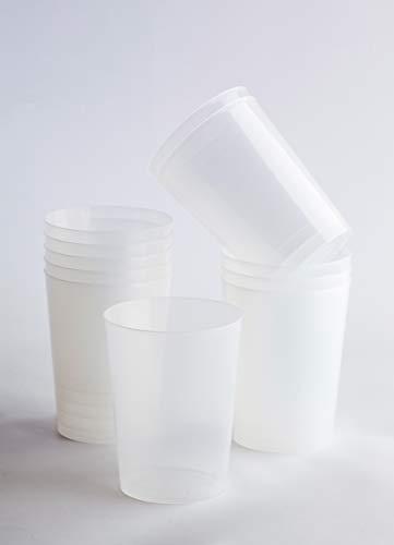 Desconocido Pack 100 Vaso Sidra Plástico Irrompible Cóctel. Cap. 500ml. Vasos de plástico para cumpleaños, Fiestas, etc.- Reutilizable, Irromplible, Lavable