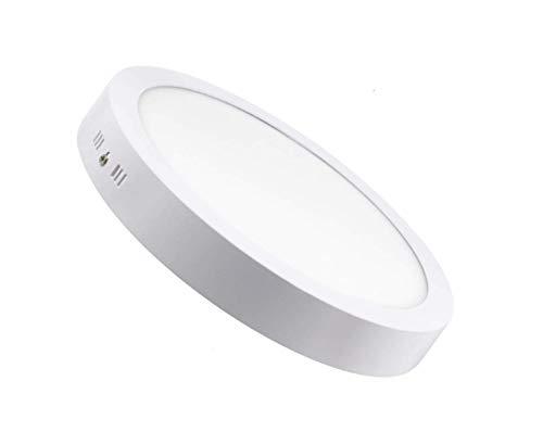 Plafon de Techo LED 25W 2500lm Downlight Blanco Neutro 4000k-4500k Circular Φ285mm Superficie Panel LED Iluminacion Para Sala de Estar,Comedor,Dormitorio,Oficina ONSSI LED