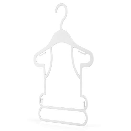 Hangerworld 30 Perchas 26cm para Niños Plástico Blanco Silueta Ideal para Conjuntos Tiendas de Ropa